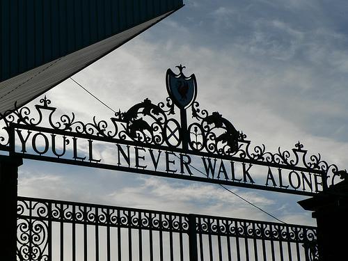 La porte d'entrée principale d'Anfield, l'antre du Liverpool Football Club, qui annonce clairement la couleur...